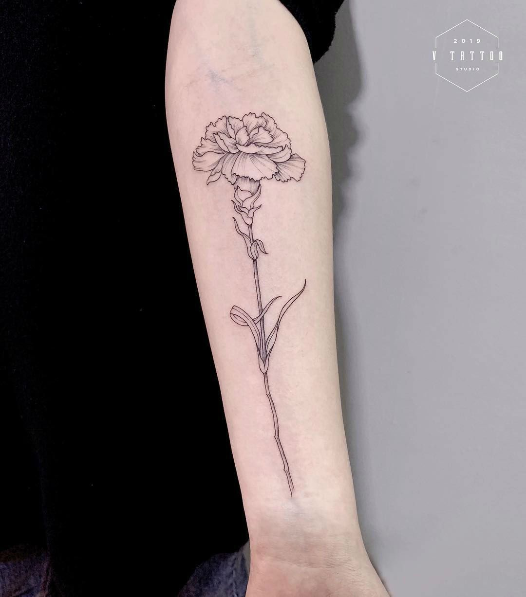 Carnation Flower Tattoo: 160+ Best Carnation Flower Tattoo Designs With Meanings