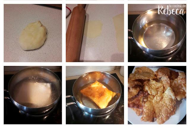 Receta de miel sobre hojuelas: la fritura