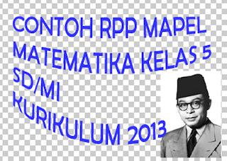 RPP Matematika Kelas 5 Semester 2 Kurikulum 2013