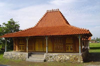 Rumah Adat Bangsal Kencono . Rumah adat Yogyakarta