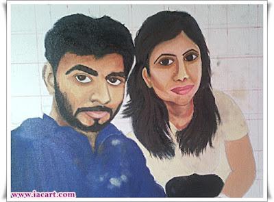 Couple Portrait - Oil Painting