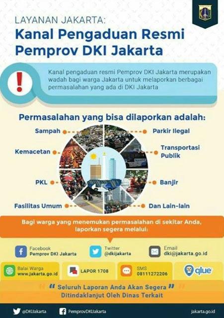 Ini Kanal Pengaduan Resmi Pemprov DKI Jakarta