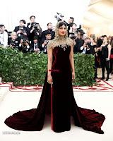 Priyanka Chopra in Maroon Velvet Gown at 2018 MET Costume Insute Gala ~  Exclusive 17.jpg