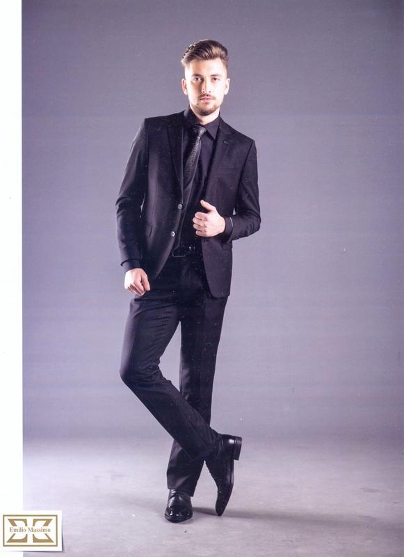 мужской черный костюм