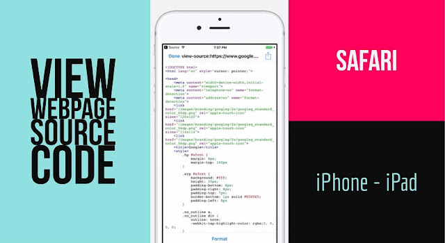 Can i view a HTML Source Code of Webpage in Safari on iPhone-iPad like on Desktop? How to View Webpage Source Code in Safari on iPhone