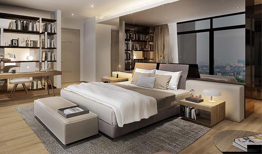 Căn hộ 2 phòng ngủ chung cư Sun Group Quảng An