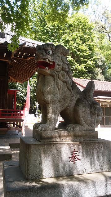 三鷹市の勝渕神社 狛犬