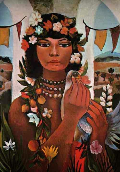 Mulata - Di Cavalcante e suas principais pinturas ~ Pintando a realidade brasileira