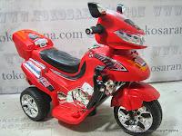 Motor Mainan Aki Pliko PK9818 Brigade Motor L Red