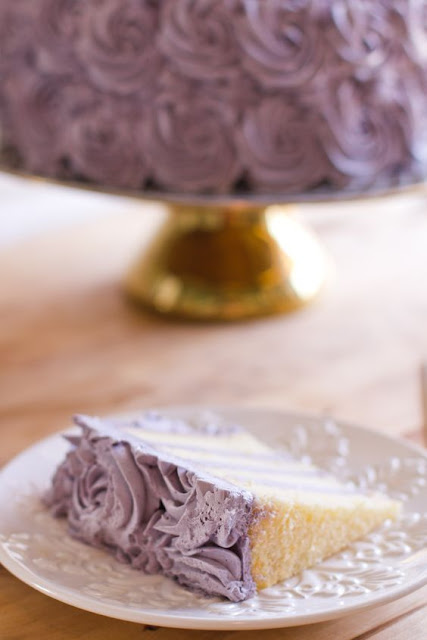 Lemon Layer Cake with Blueberry Lavender Buttercream by the wholesome pursuit {Cool Chic style Fashion}
