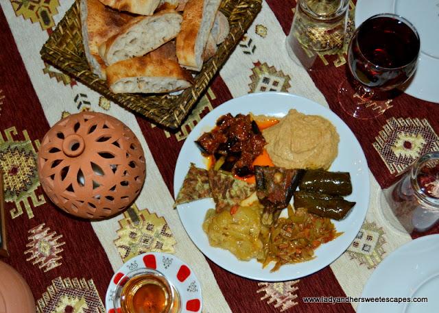 Topdeck Cave Restaurant mix mezze