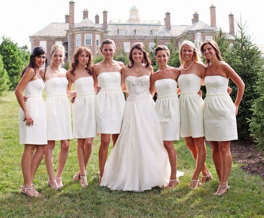 WhiteAzalea Bridesmaid Dresses: Pure White Bridesmaid Dresses