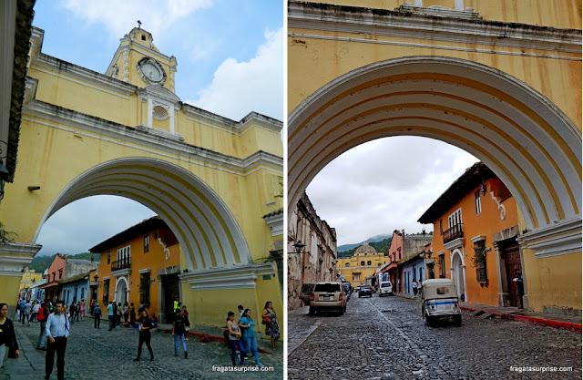 Arco de santa Catalina, em Antigua Guatemala