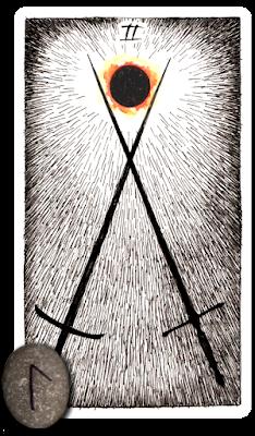 Wild Unknown Tarot Runes Two of Swords Laguz