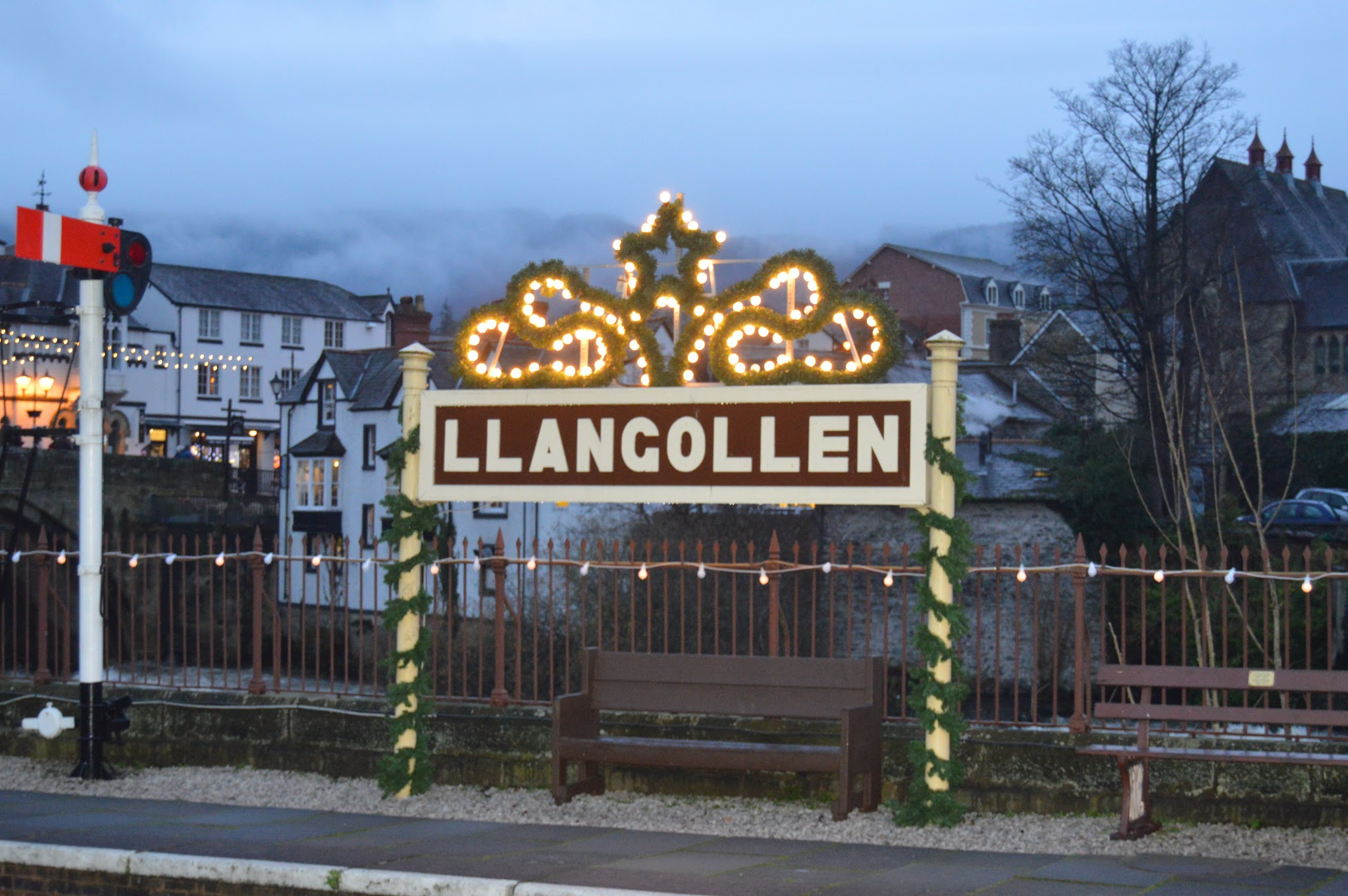 Llangollen Railway Sign