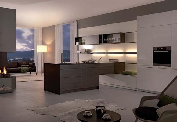 Electrodom sticos integrados en la cocina - Salon y cocina integrados ...