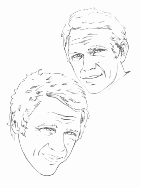 comics sketches Steve McQueen