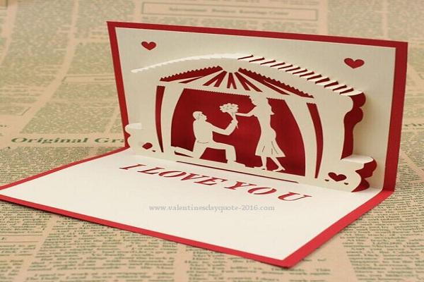 Valentine day pop cards
