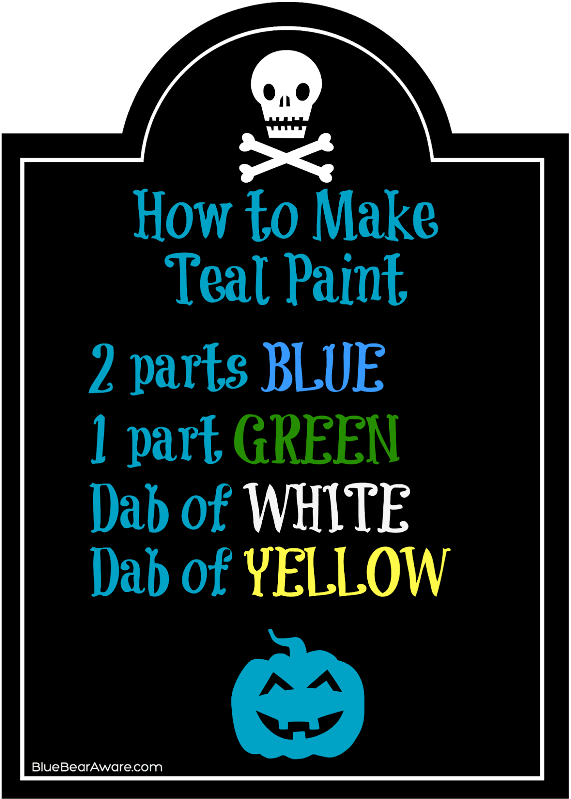 Teal pumpkin inspiration for How to make teal paint