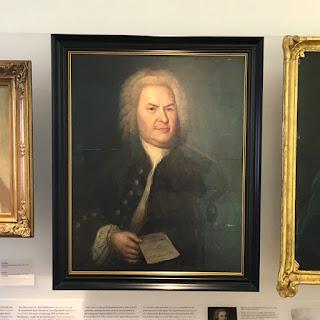 Retrato de Bach, a partir de Hausmann, Museo Bach, Eisenach.