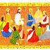 Triptyque de l'eucharistie :  multiplication des pains, Cène, lavement des pieds, mort et résurrection