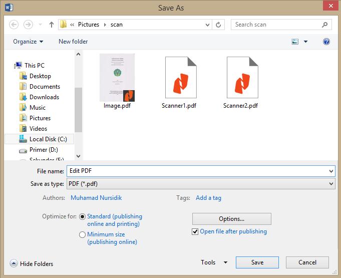 cara edit hasil scan pdf online