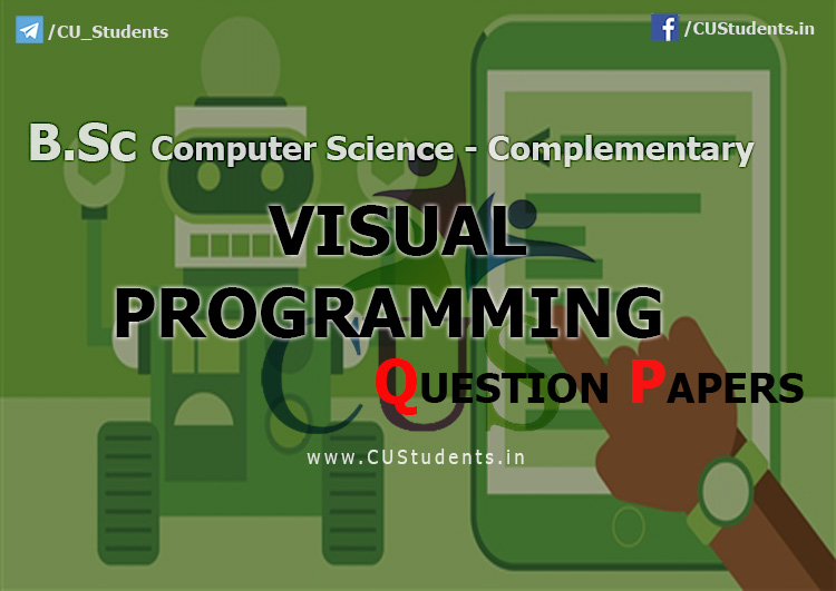 Visual Programming  Previous Question Papers