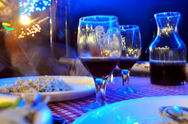 Daman night life red port wine