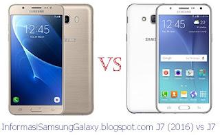 Harga dan Spesifikasi Samsung Galaxy J7 (2016) vs J7