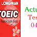 Listening LongMan New Real TOEIC Full Actual Test 04