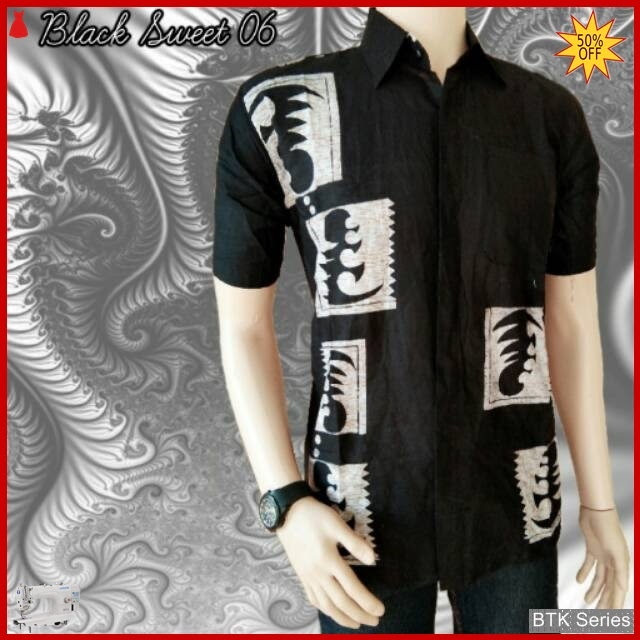 BTK167 Baju Hem Black Sweet 06 Modis Murah BMGShop