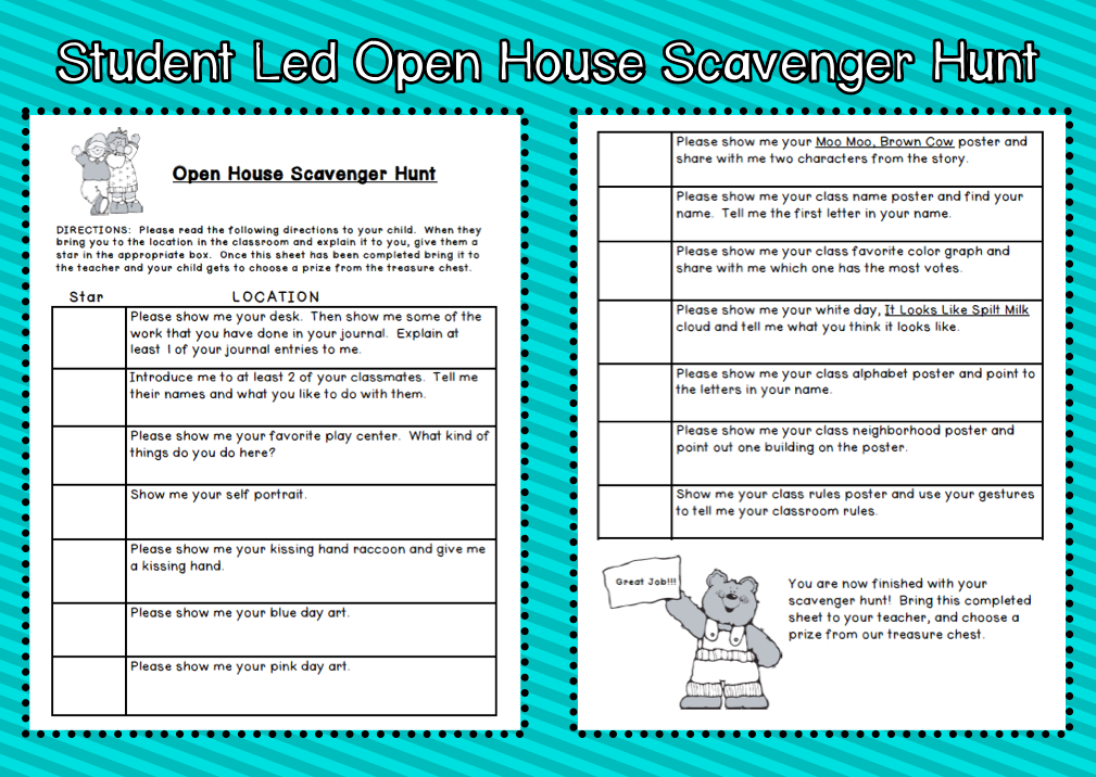 Kindergarten Kids At Play Student Led Open House Idea For