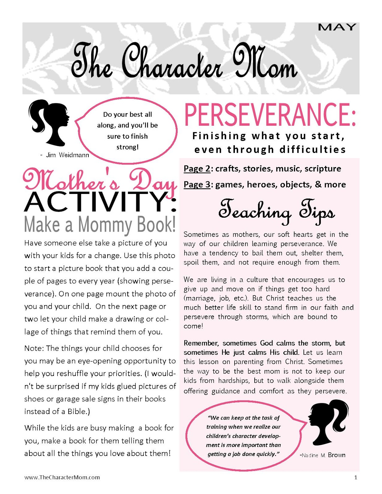 Character Mom Free Persevering Download