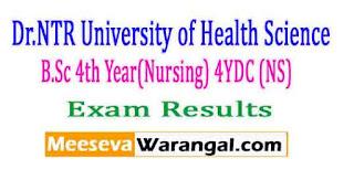 Dr.NTR University of Health Science B.Sc 4th Year(Nursing) 4YDC (NS) Nov 2016 Exam Results