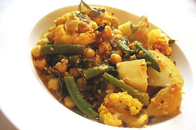 Chickpea Mixed Vegetable Poriyal