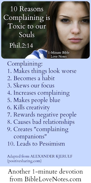 10 reasons complaining is toxic - Philippians 2:14-16