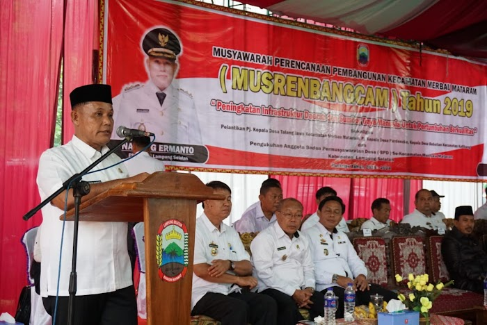 Pemkab Lamsel Gelontorkan Anggaran Pembangunan Rp48 Miliar di Kec Merbau Mataram.