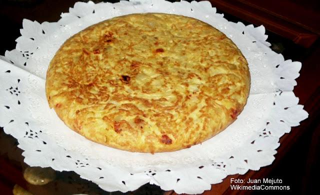 Tortilha de batatas, prato típico da Espanha