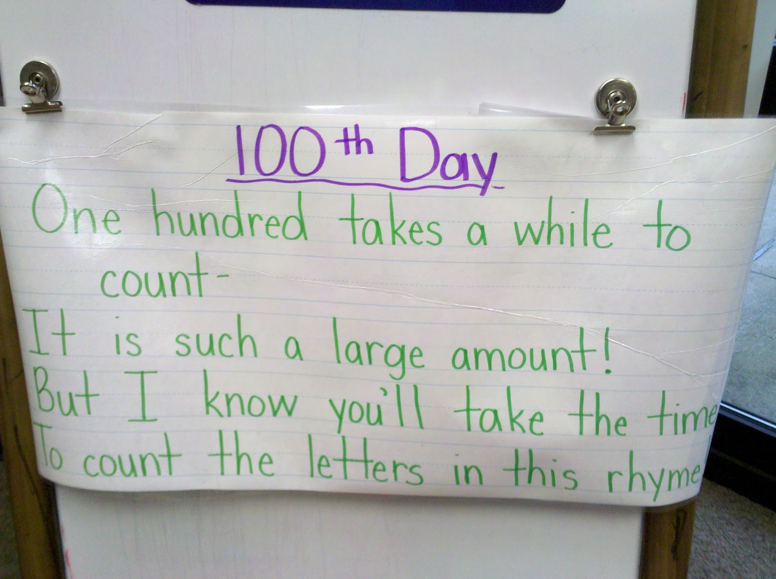 Our 100th Day
