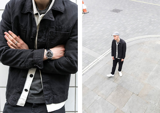 matthew pike of buckets and spades wears jigsaw raw state collection ss17, dufa watch