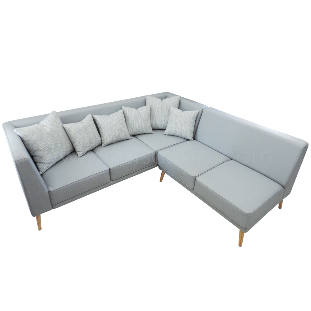 L Shape Sofa Talitha Bursa Sofa ~ Grey Leather L Shaped Sofa