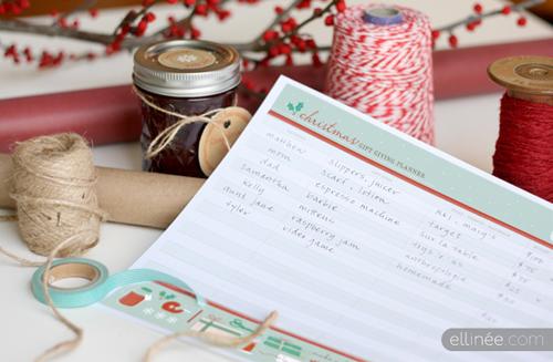 Printable Christmas Organzing Check List