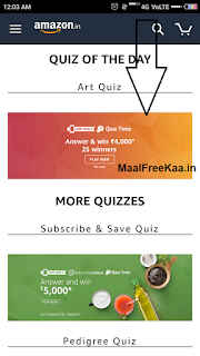 Amazon Art Quiz Time