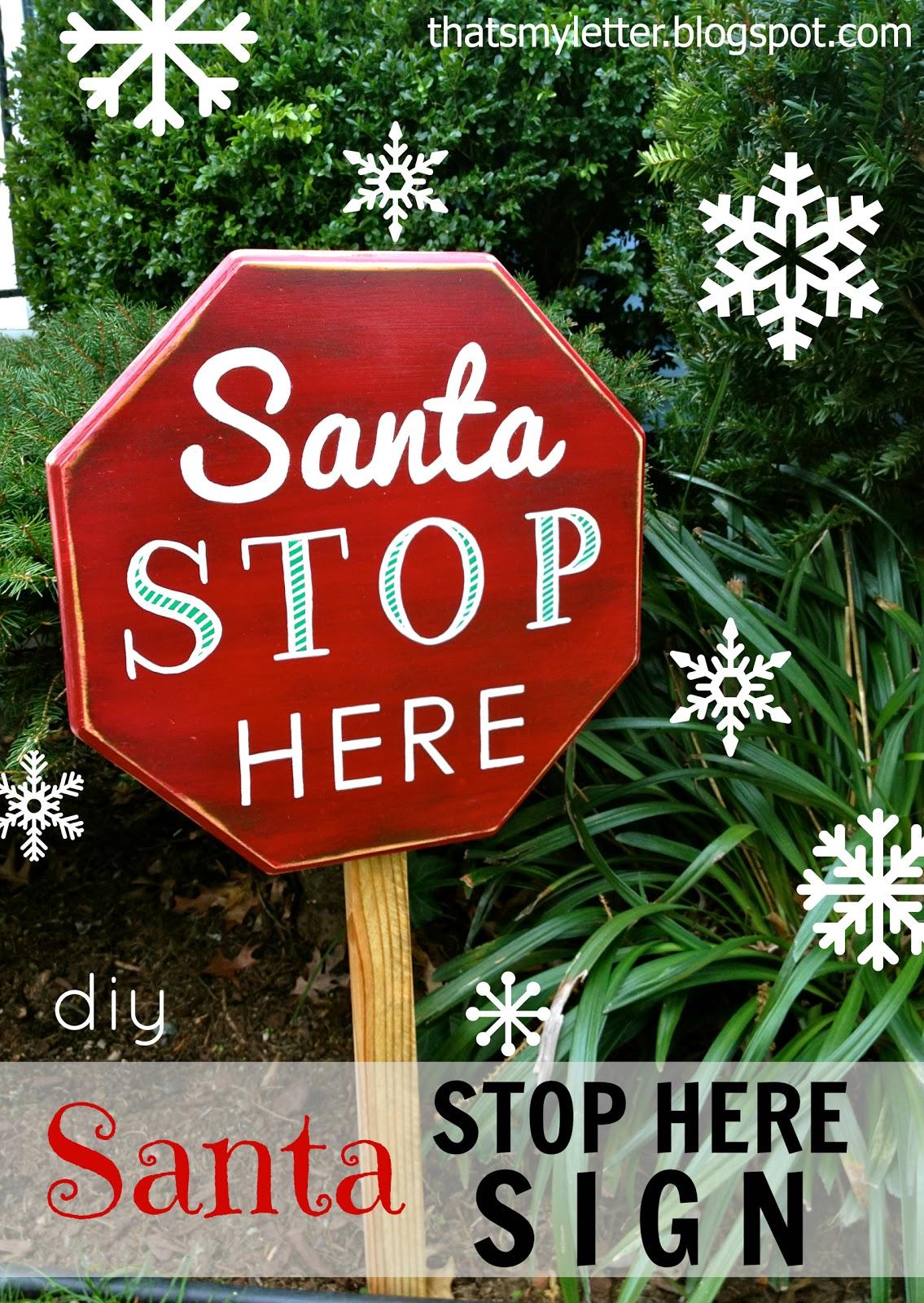 """S"" is for Santa sign - Jaime Costiglio"
