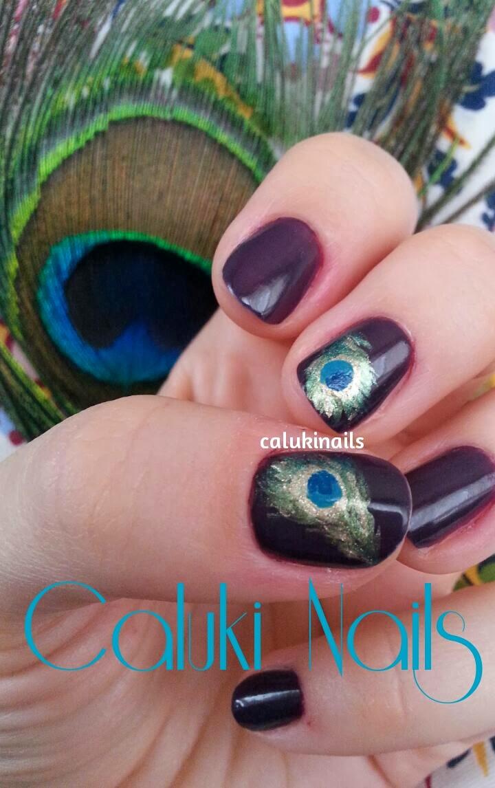Caluki Nails Nail Art Plumas De Pavo Real