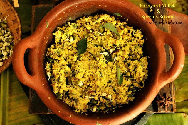 Barnyard Millets & Sprouts Briyani
