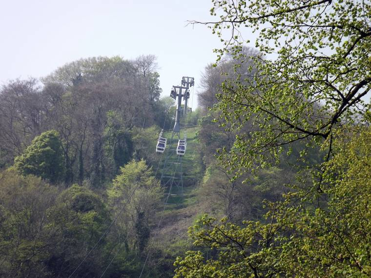Matlock Bath: View Of Heights Of Abraham