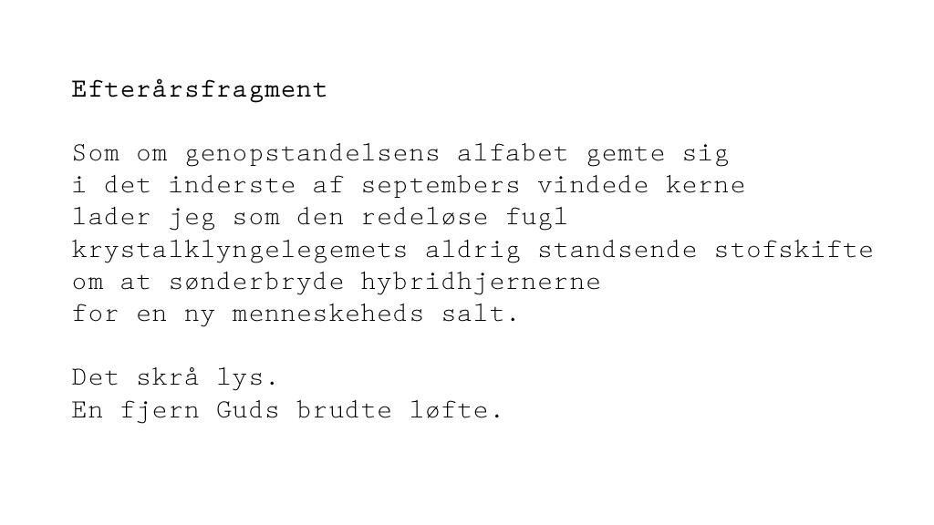Efterår - september - digt