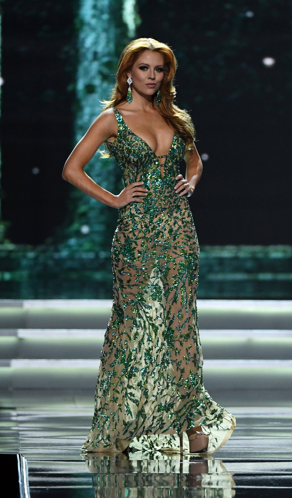 Miss New York USA Hannah Lopa: Red-haired Hannah is next on my list of  least favorite gowns for the 10 Miss USA 2017 semifinalists.
