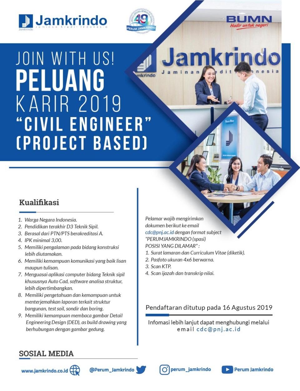 Lowongan Kerja Project Based Perum Jamkrindo